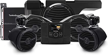 Rockford Fosgate RZR-STAGE4 600 Watt Stereo, Front and Rear Speaker, and subwoofer kit for Select Polaris RZR Models