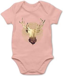 Shirtracer Hirsch - Baby Body Kurzarm für Jungen und Mädchen