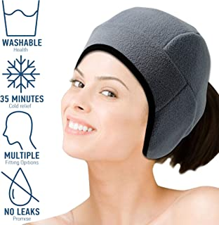 Headache hat and Migraine Relief hat - Ice hat Good for Migraine Headaches and Tension Relief, Adjustable, Comfortable, Long Cool