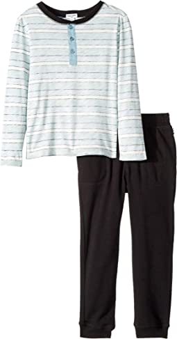 Reverse Stripe Long Sleeve Set (Little Kids/Big Kids)