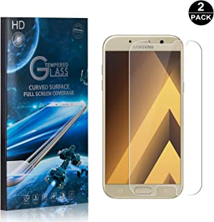 Galaxy A3 2017 Screen Protector Tempered Glass, Bear Village® Perfect Fit & Anti Fingerprint HD Screen Protector Film for Samsung Galaxy A3 2017-2 Pack