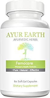 Femocare - Ayurvedic PMS Relief & Women's Health Vitamins - Herbal Women's Hormone Balance Softgels - Natural Cycle, Period Pain, Ovulation Support Formula - 15 Day Supply (60 Capsules, 1000mg)