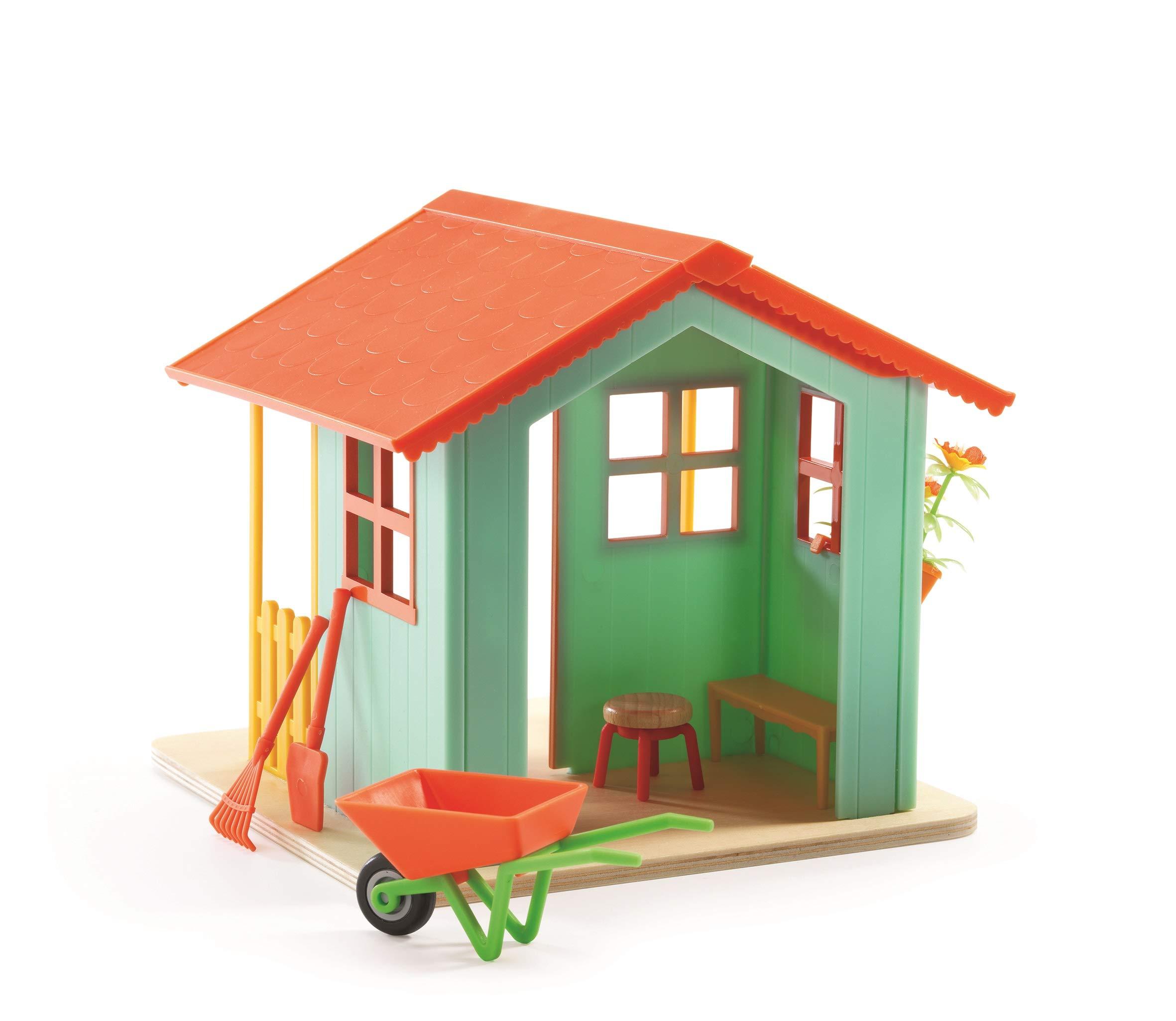 Amazon.es: Djeco - Casa de muñecas casita de jardín: Juguetes y juegos