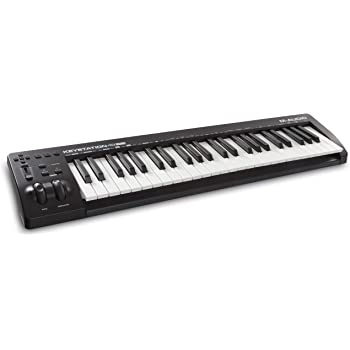 M-Audio Keystation 49 MK3 | Compact Semi Weighted 49 Key MIDI Keyboard Controller with Assignable Controls, Pitch / Modulation Wheels and Software Production Suite included USB Powered