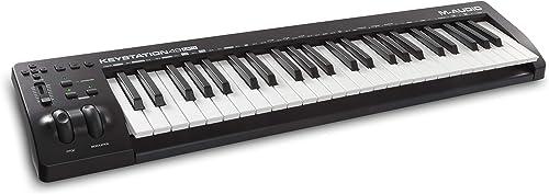M-Audio Keystation 49MK3 - Clavier Maître MIDI 49 Touches Alimenté par USB, Commandes Paramétrables, Molettes Pitch,...