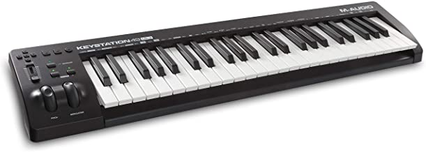 M-Audio Keystation 49 MK3 | Compact Semi Weighted 49 Key MIDI Keyboard Controller with Assignable Controls, Pitch / Modula...
