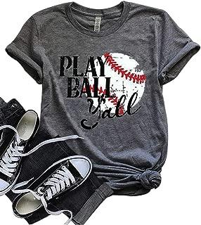 Let's Play Ball Ya'll Tshirt Let's Do This Boys Shirt Baseball Mom T-Shirt Tee Tops