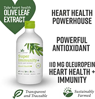 WellGrove Super Immunity Olive Leaf Extract with Heart Health   All Natural Vegan Antioxidant Dietary Supplement   Promotes Immunity and Cardiovascular Health   Organic Non-GMO (Natural 500mL)