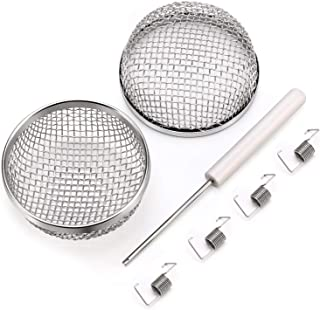 Kohree Flying Insect Screen Bug Screen RV Furnace Vent Cover Replacement RV Camper Heater Exhaust Screen Cover, 2 Packs 2.8 Inch Stainless Steel Mesh Screen with Installation Tool