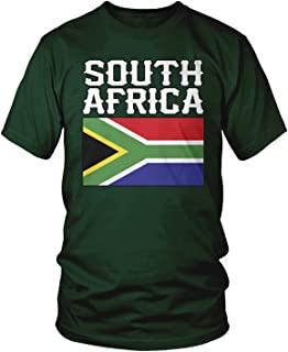 Amdesco Men's South Africa Flag, South African Heritage T-Shirt
