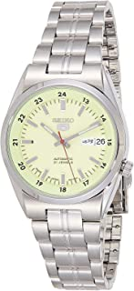 Seiko 5 Men's Green Dial Stainless Steel Automatic Watch - SNK573J1
