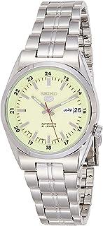 ساعة سيكو 5 للرجال مينا اخضر ستانلس ستيل اتوماتيكية - SNK573J1