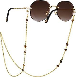 سلسلة Gl مطلية بالذهب 18 قيراط سلسلة اللؤلؤ Gl سلسلة النظارات الشمسية أنيقة العين سلسلة اكسسوارات Gl للنساء والفتيات
