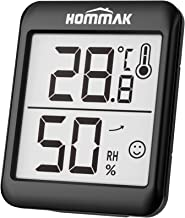 Hommak Room Thermometer Indoor Digital Hygrometer Indoor Humidity Meter Indoor, Temperature Monitor with High Accuracy, 2.3 Inch Large Display, Humidity Trendline, Comfort Level Indicator, Black
