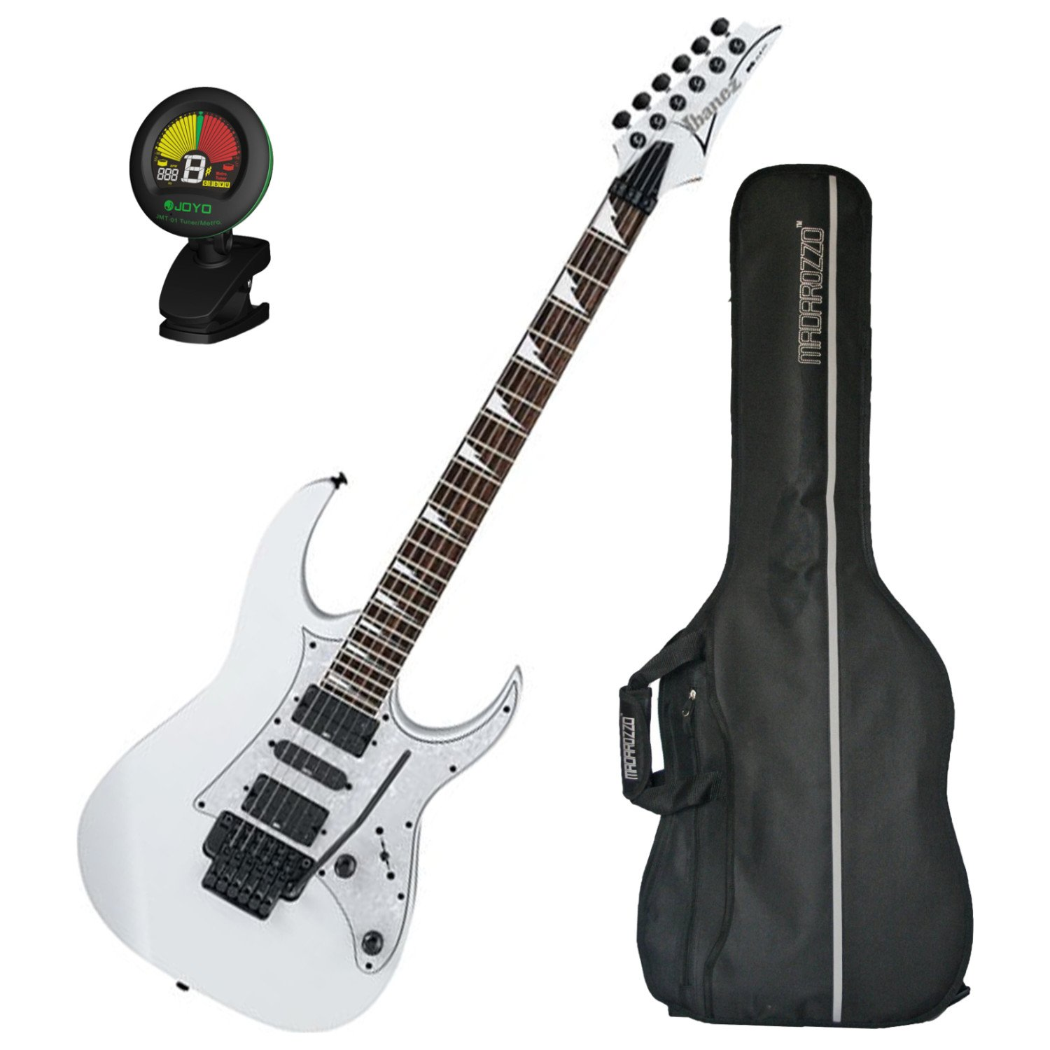 Cheap Ibanez RG450DXBWH Electric Guitar White w/ Gig Bag and Tuner! Black Friday & Cyber Monday 2019