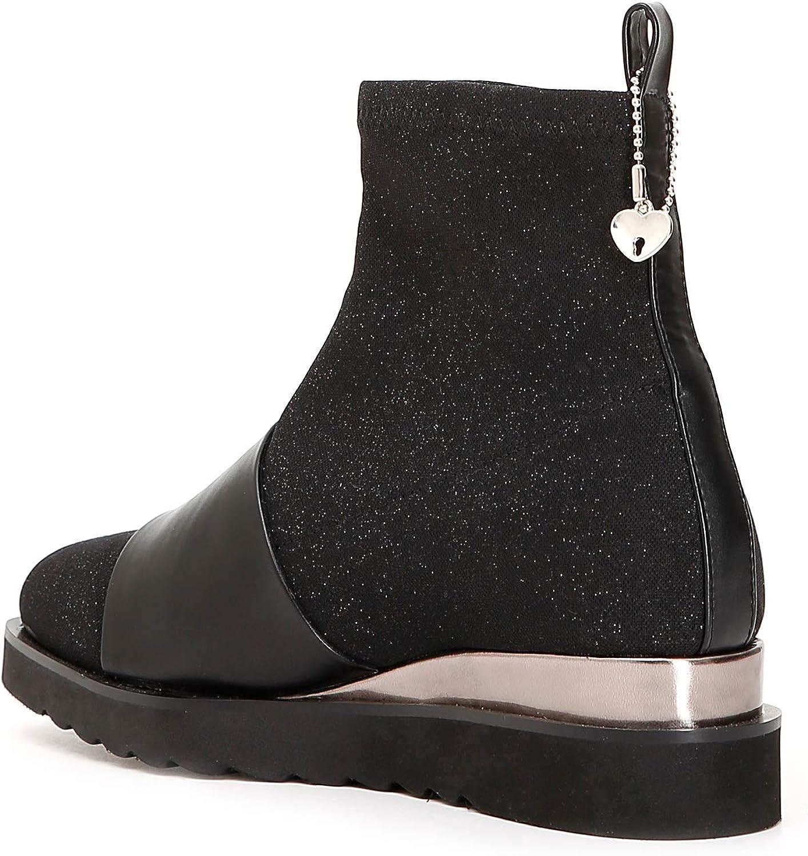 CAF schwarz EC912 Schwarze Schuhe Damen Stiefeletten Stiefeletten Stiefeletten Mid-Stretch-Stoff  efae8f