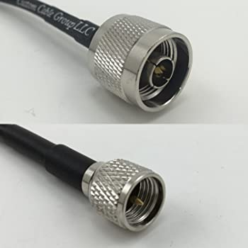 1 Foot RG58 PL259 UHF Male to UHF Male Angle Pigtail Jumper RF coaxial Cable 50ohm Quick USA Shipping