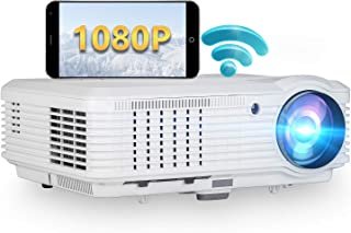 Wireless WiFi LCD Projector with Android, 4600 Lumen Support 1080P Full HD Upgrade LED Video Smart Projector with Airplay,...