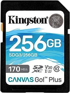 Kingston SDG3/256GB SD Card (256GB SDXC Canvas Go Plus 170R C10 UHS-I U3 V30)