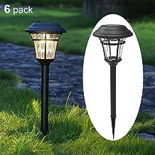 MAGGIFT 6 Lumens Solar Garden Lights Solar Landscape Lights Solar Pathway Lights Outdoor for Lawn, Patio, Yard, Walkway, Garden, 6 Pack (Black)