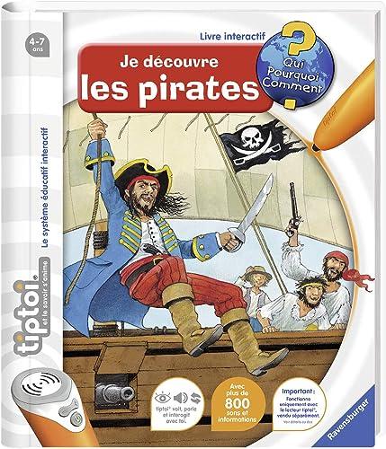 Ravensburger - Livre d'aventure interactif tiptoi - Je découvre les pirates - Jeux électroniques éducatifs sans écran...