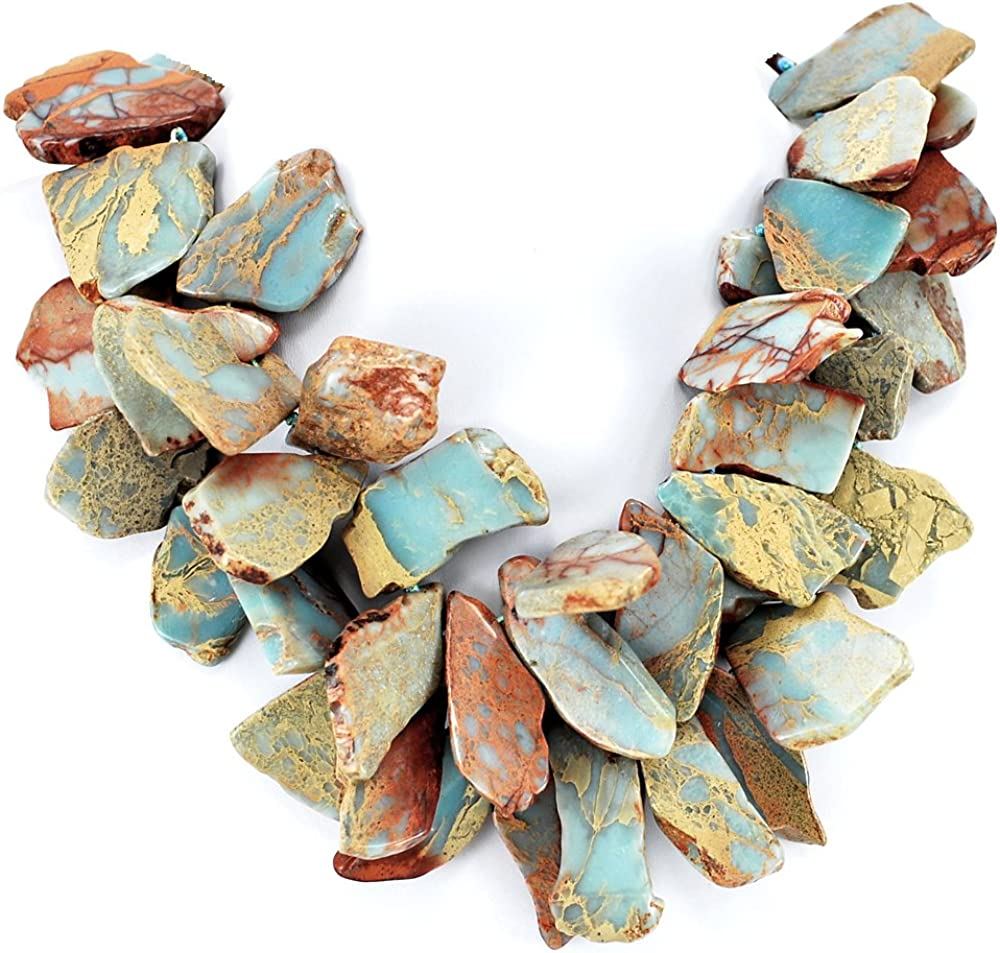 Double Strands Ocean Jasper Nugget Necklace Knotted List price cheap with Hand Si