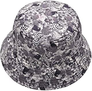 Unisex Bucket Hat Cotton Summer Boonie Cap Fisherman Printed Packable Outdoor Sun Hats,Many Patterns