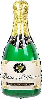 Ayat Retail   Champagne Bottle Shape Foil Balloon   Quirky Design   20 Inch x 40 Inch   Bright Colors   Party Prop & Decor...