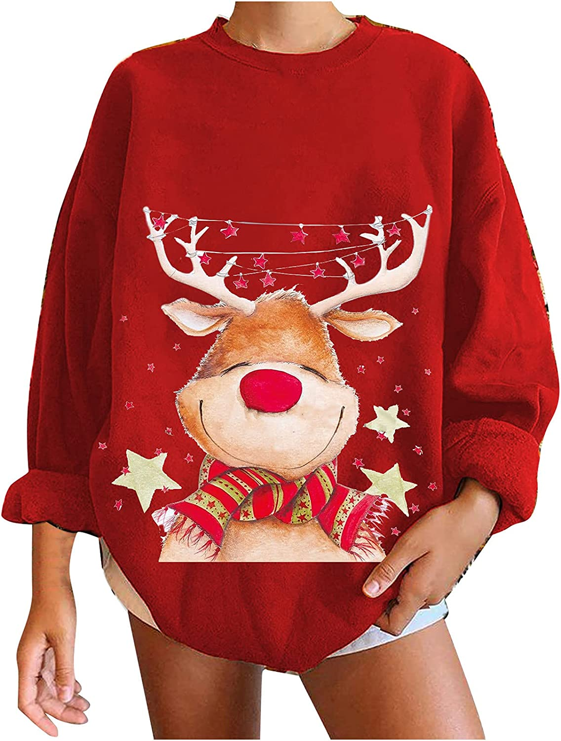 Kanzd Oversized Christmas Sweatshirts Be super welcome for Women L Casual Outlet sale feature Women's