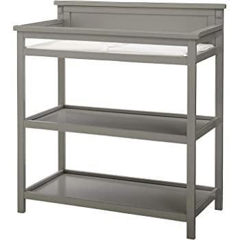 Imagio Baby Emery Changer with Shelves and Pad, Grey, Grey