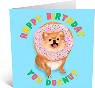 Central 23 - Birthday Card for Sister - 'Happy Birthday You Dognut' - Happy Birthday Cards for Sister - Friend - Daughter...