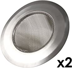 Happy Sales HS5049-SS2, Stainless-Steel Kitchen Sink Strainer - Set of 2 - Large Wide Rim 4.25