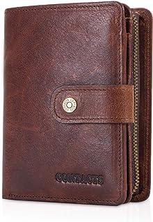 FANDARE Mode Portefeuille Homme RFID Court Porte Monnaie Cuir veritable Portefeuille avec 12 * Fentes pour Carte de crédit...