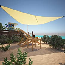 """Cosway Portable Triangle Sun Shade Sail Canopy Awning Cover 12""""x 12""""x 12"""" for Outdoor Patio Facility Activities"""