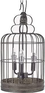 New Legend Lighting Antique Black 3-Light Metal Birdcage Chandelier Hanging Pendant Ceiling Lamp Fixture