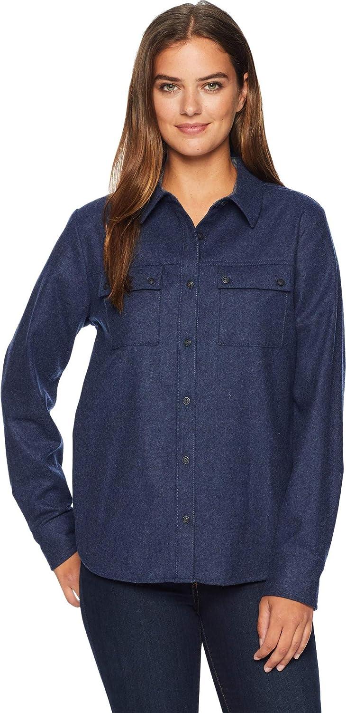 Pendleton Women's Quimby HiLo Wool Shirt Navy Mix Medium