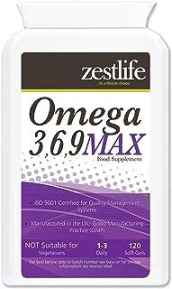 Omega 3.6.9 1000mg - 120 Cápsulas ácidos grasos EPA y DHA y vital para la piel.