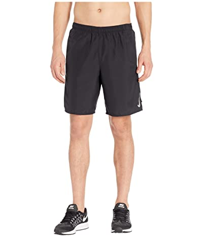 Nike Challenger Shorts 9 BF (Black/Black/Metallic Silver) Men