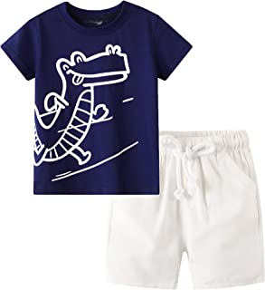 Toddler Boy Clothes Kids Summer Cotton Clothing Sets Little Boys Outfits Size 2-7T