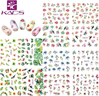 KADS Nail Art Sticker Water Stickers &3D Stickers For Nails Water Transfer (Flower New)