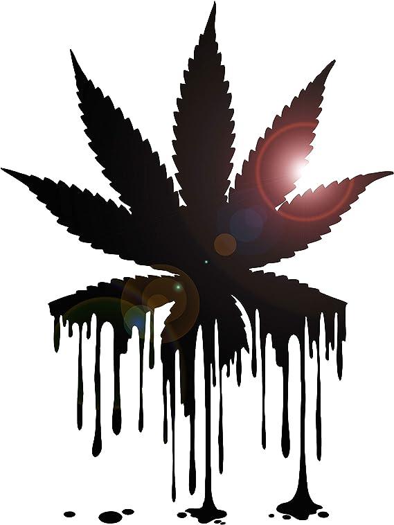 ig2331 Weed Vinyl Decal Cannabis Marijuana Rastafarian Bong Hemp Wall Stickers