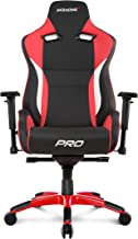 AKRacing Masters Series Pro Luxury XL Gaming Chair with High Backrest, Recliner, Swivel, Tilt, 4D Armrests, Rocker & Seat ...