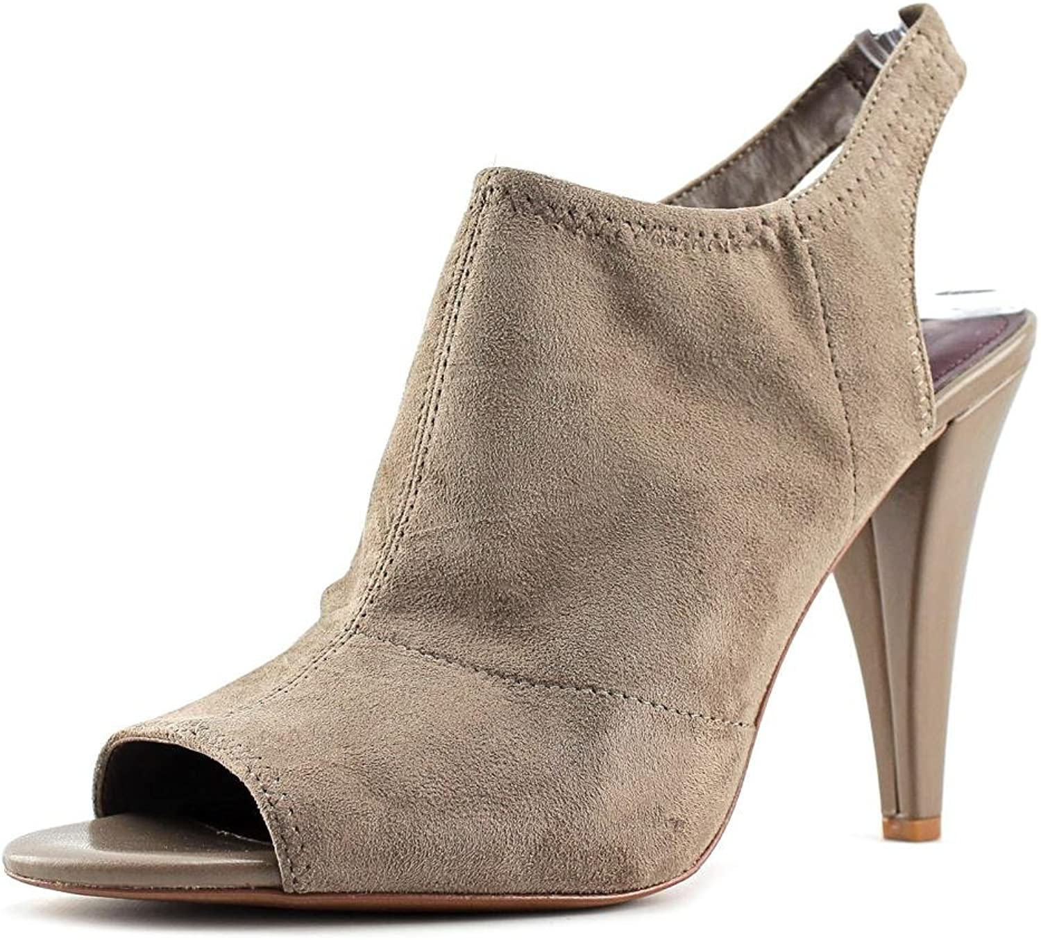 BCBGeneration Womens Remmy Suede Open Toe Classic Pumps Taupe Size 10.0