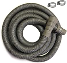 11.5 ft Washing Machine Discharge Hose, Fit outlet end diameter 42mm, 38mm, 34mm, 30mm, 28mm; Heavy-Duty Water Support, Flexible, Corrugated Design, Include 2 Steel Clamps