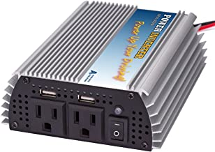 Auto Alive 400W DC-AC Power Inverter Aluminium Shell Dual AC Outlets 2.4A USB Port/Socket Quick Charger