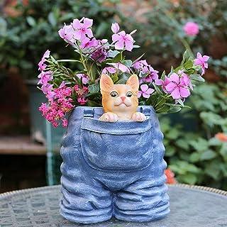 Luckyw Kreativ kattunge personlighet vattentät harts trädgårdsstaty för gård landskap gräsmatta dekoration hantverk gåva