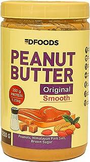 DFOODS Original Peanut Butter (Smooth) (1.25kg) | Unsweetened | 350g Protein | Non GMO | Gluten Free | Vegan | Cholesterol...