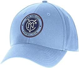 adidas New York City FC MLS Team Basics Structured Adjustable Hat - Light Blue