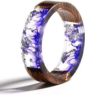 wood crystal ring