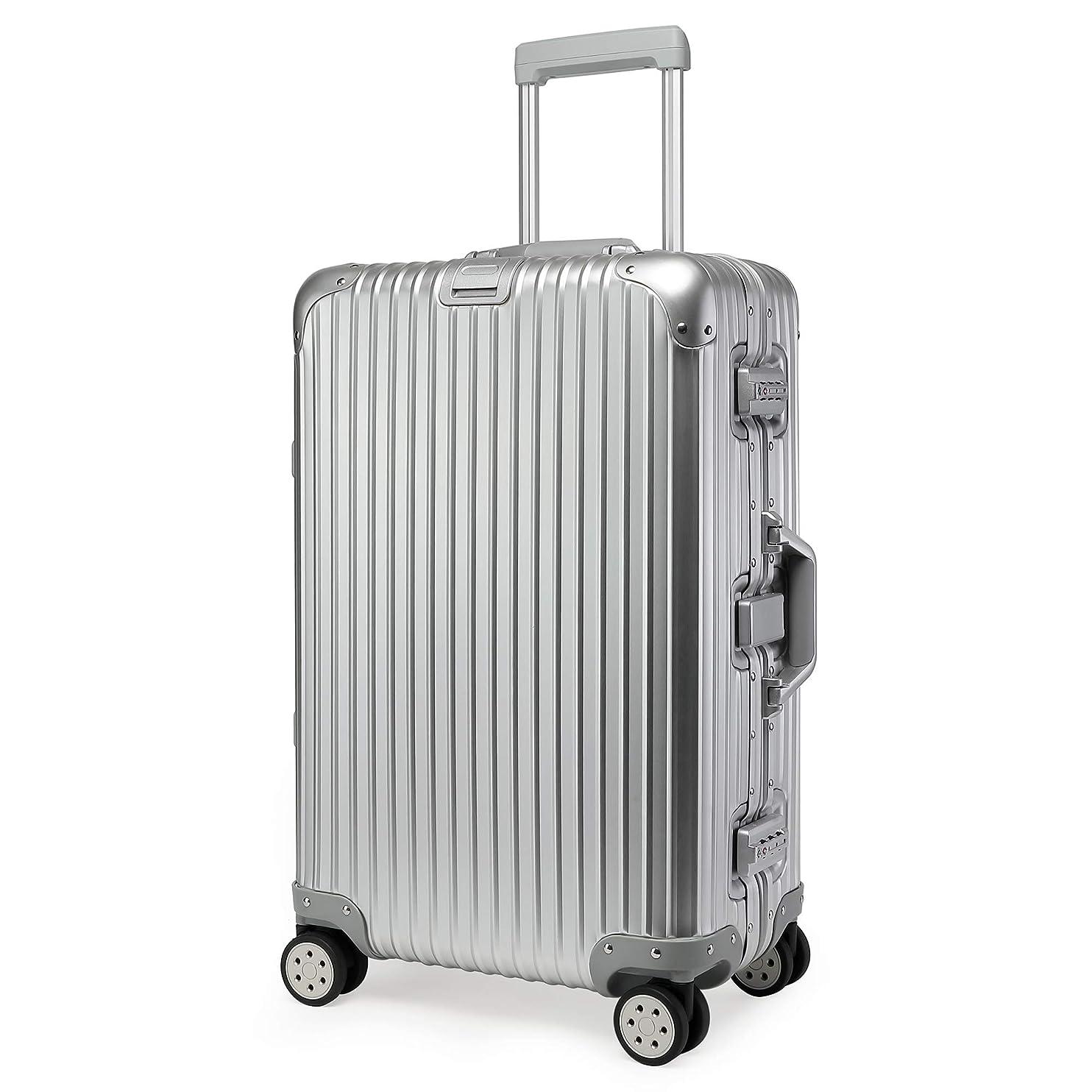 候補者考慮落花生Kroeus(クロース)キャリーケース スーツケース アルミ-マグネシウム合金ボディ TSAロック搭載 360度自由回転 S型機内持込可 日本語取扱説明書付き 1年間保証